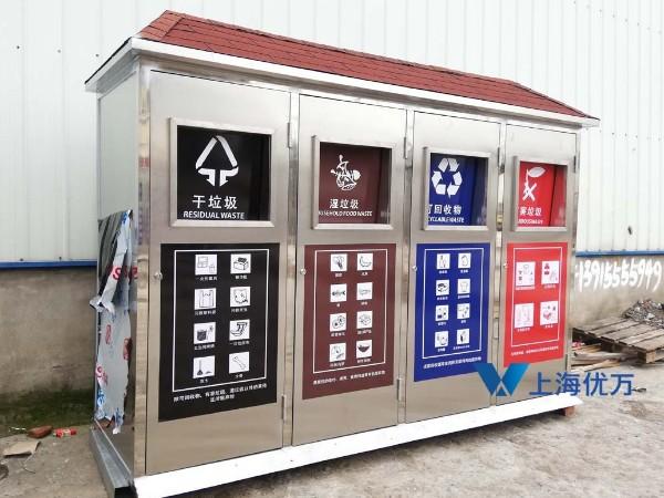 不锈钢垃圾分类亭001